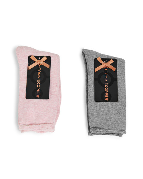 High Rise and Pink Nectar - Women's 2-Pack Core Lounge Crew Gripper Socks