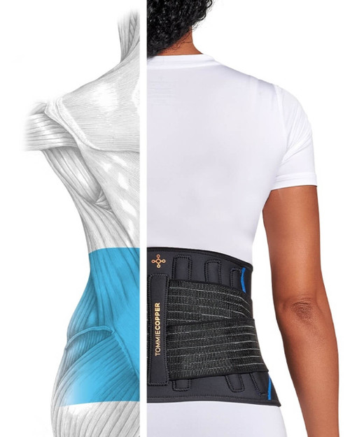 Black - Women's Pro-Grade Adjustable Back Brace