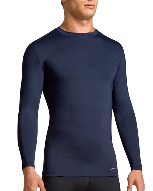 Dark Navy - Men's Core Compression Long Sleeve Crew Neck Shirt Outlet