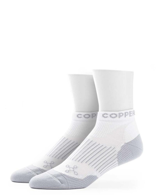 White - Men's Performance Compression Ankle Socks Outlet