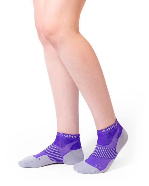 Purple - Women's Performance Compression Ankle Socks