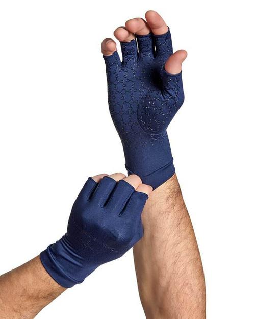 Dark Navy - Men's Core Compression Half Finger Gloves
