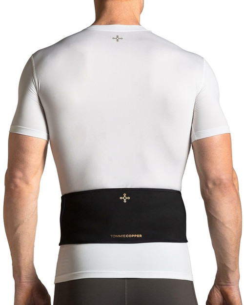 All Black - Men's Lower Back and Shoulder Therapy Wrap  with Hot & Cold Gel Packs