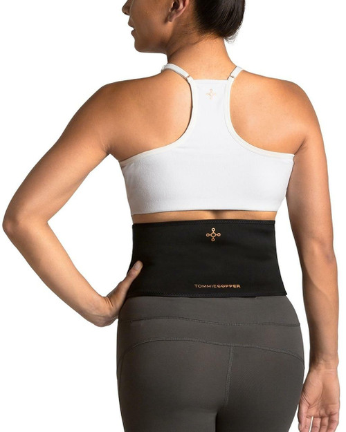 All Black - Women's Lower Back and Shoulder Therapy Wrap with Hot & Cold Gel Packs