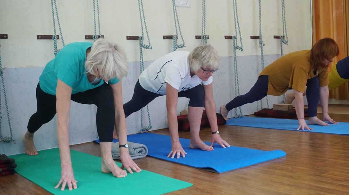 Women stretching which is one of the easiest ways to improve circulation