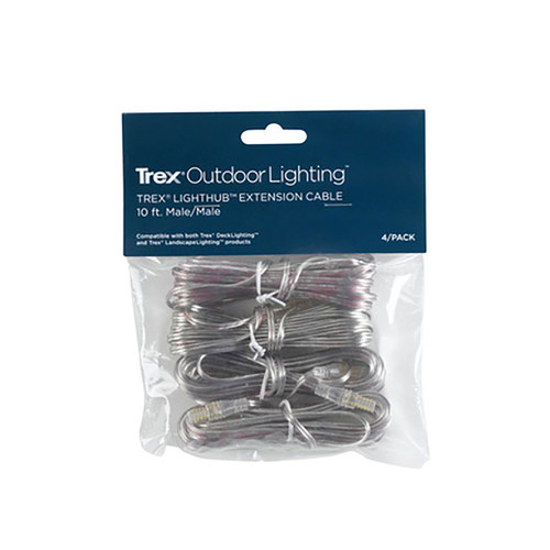 Trex Lighthub 10' Male Wire (4 Pack)