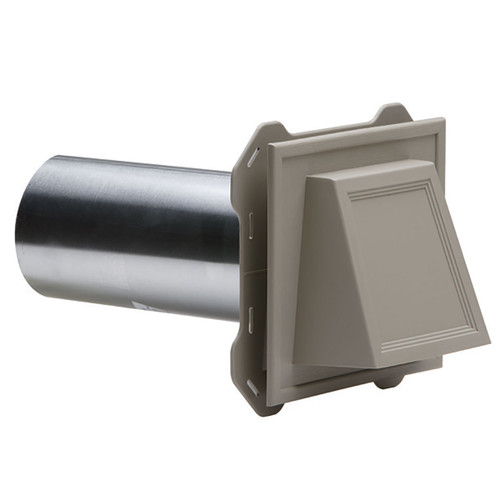 MA Hooded Dryer Vent 4 in. Linen
