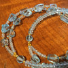 Aquamarine Necklace with Gold Plated Beads and Clasp 44 grams