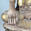 Shan Style Buddha Marble with Gold Leaf, Northern Burma (Myanmar) Circa Early 20th Century