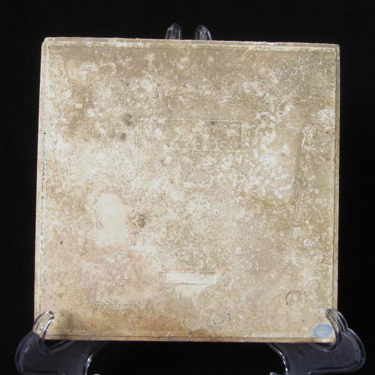 ANTIQUE ART NOUVEAU MAJOLICA TILE C1900 ENGLAND