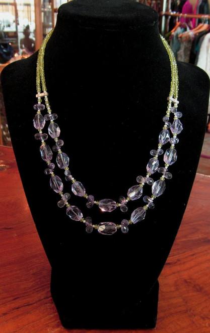 Amethyst -Peridot-Pearl (double)