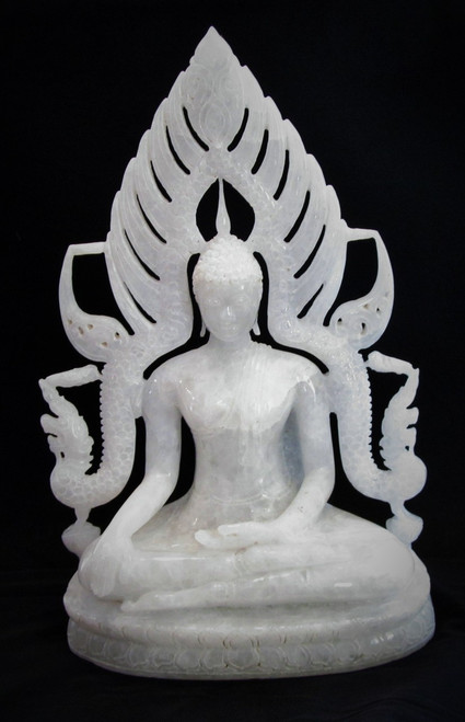 Burmese Buddha Mixed with Lanna Thai Style (Marble)