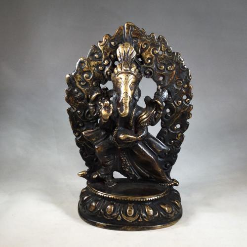 Early 19th century Nepalese Four Hand Bronze Ganesha