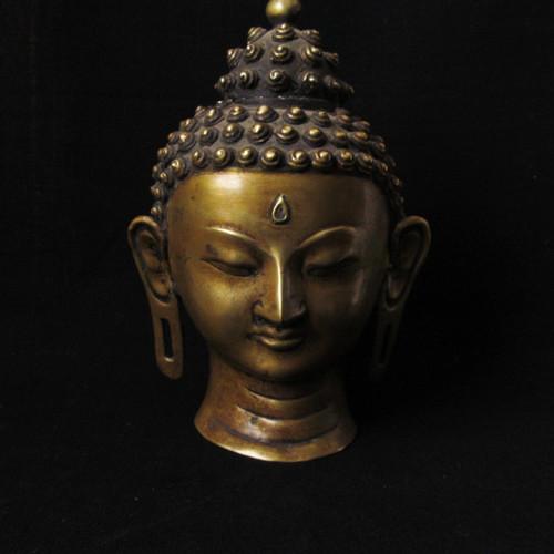 Tibetan Bronze Buddha Head, Early 20th Century -SOLD