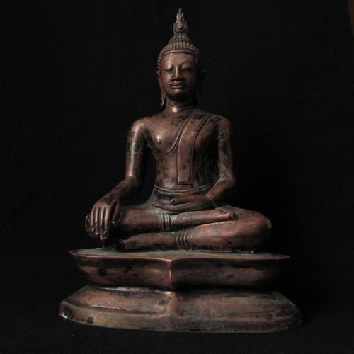 Artisan Crafted Copper Buddha, Lang Prabang Laos,