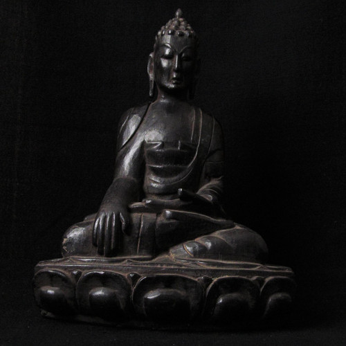 Antique Wood Buddha Nepal, 150-170 years old-SOLD