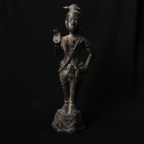 Thai Bronze Good Luck Statue, Late 19th Century Early 20th Century