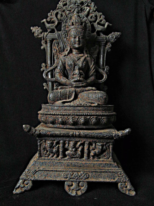 Cast Iron Buddha, Three Parts, North Laos, Cica 1900