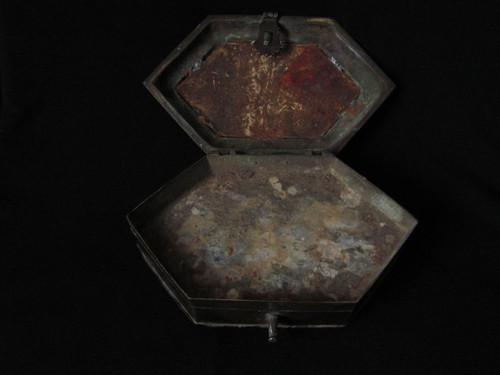 Bronze Newari Tika Box  Nepal