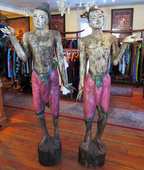 Colonial Burma Greeting Statues, 1910-1920's