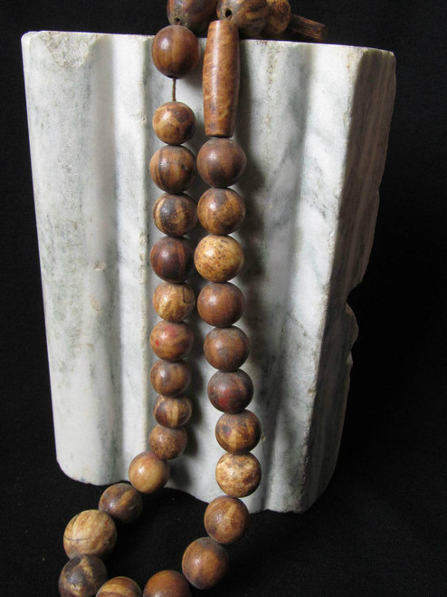 Very Old Pumtek Beads (Made from Petrified Wood) C1600
