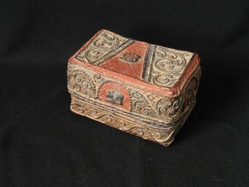 SOLD-Burmese Laquerware Box, C1900