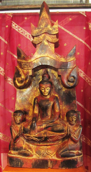 Burmese Wood Carving Replica, damaged price reduced 50%