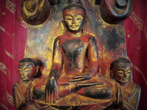 Burmese Wood Carving Replica, damaged price reduced 50%