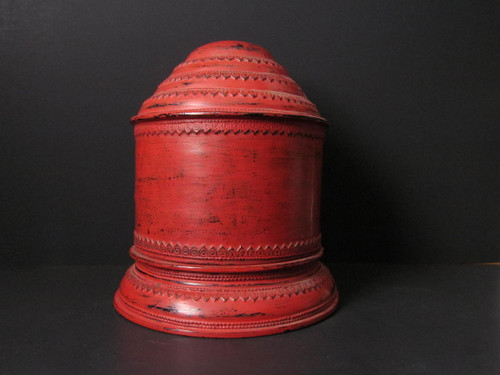 Large Burmese Yun Lacquered Betel Box - 19th Century Early 20th Century # 1