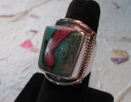 CUPRITE/CHRYSOCOLLA RING Size 9 1/2 (sold)