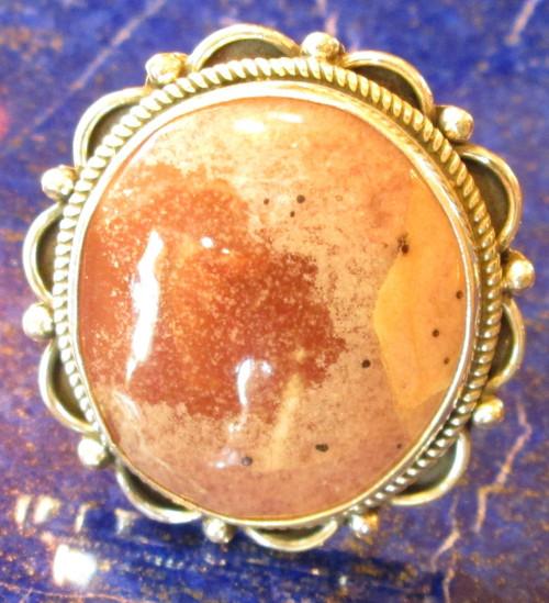 Large Rhodochrosite Ring 9 sold