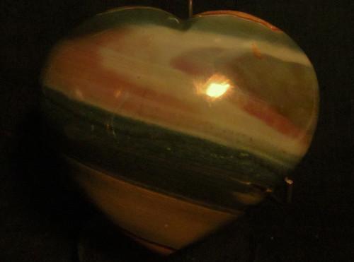 Polychrome Jasper Heart shape  #1-SOLD