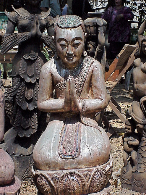 This is how I found this piece, outside in a antique yard in the 90's in Northern Thailand.  Those days are gone.