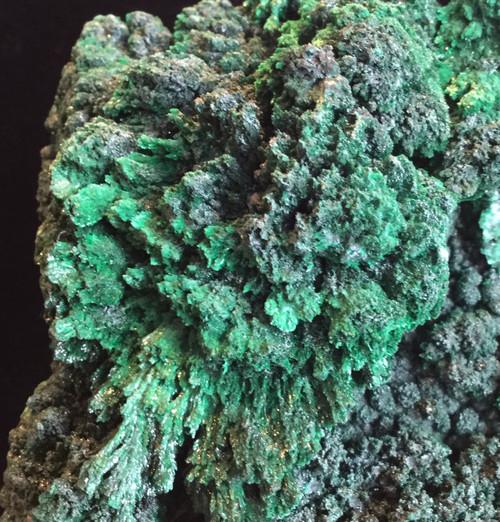 SOLD-Fibrous Malachite Specimen 610 grams