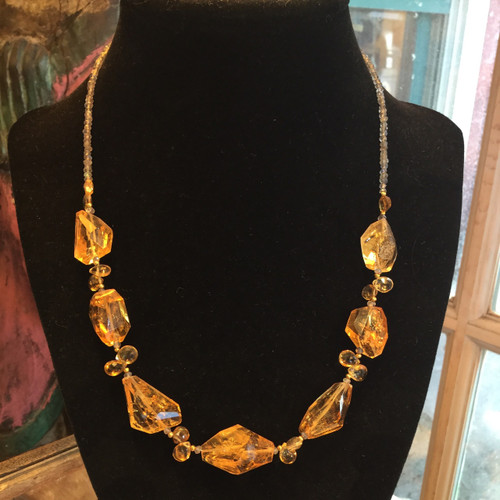 Citrine Necklace  with Labradorite 30 grams