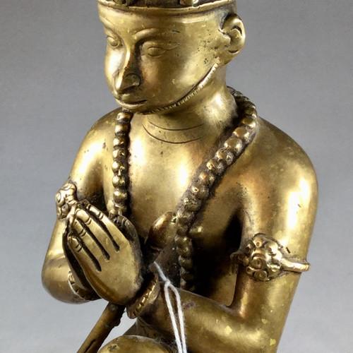 Lord Hanuman Bronze Butter Lamps circa late 1900's