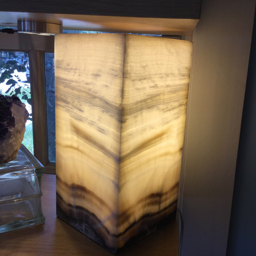 Onyx Lamp Yellow Lace   (#3)