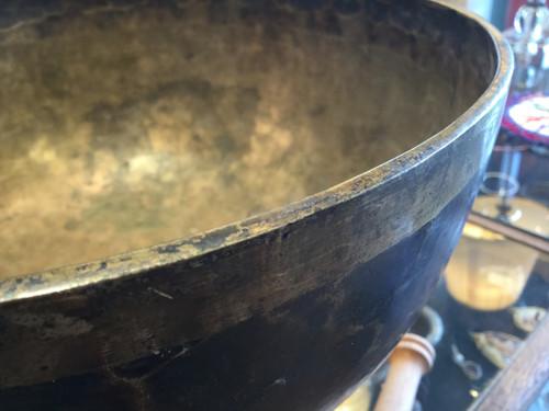 Large Bronze Singing Bowl Nepal circa 1900