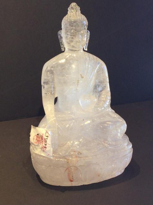 Sold-Himalayan Quartz Buddha Hand Carved.