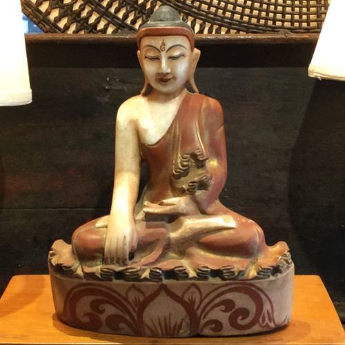 Burma 19th century Mandalay Marble Buddha