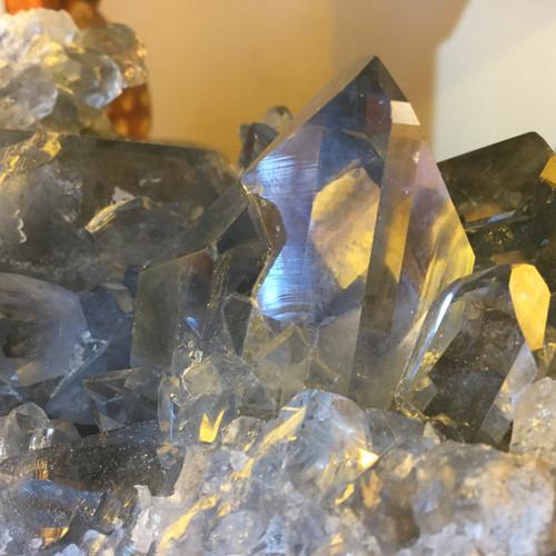 SOLD-Super Clear Steel Blue Points Celestite Specimen Madagascar
