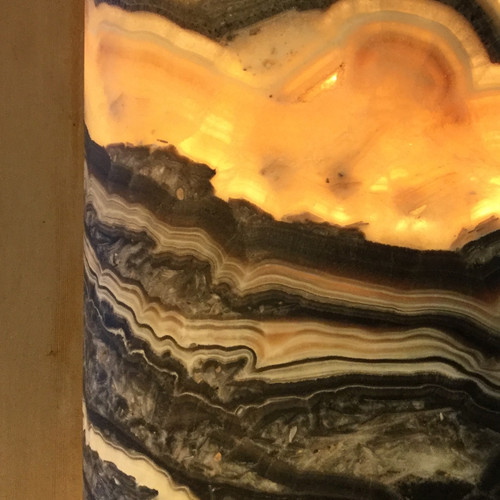 Cylindrical Yellow Onyx Luminary