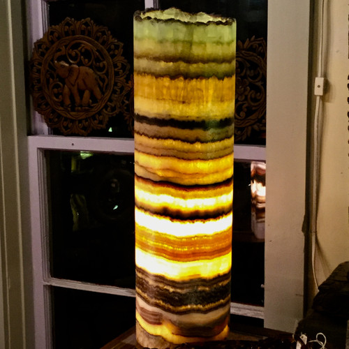 SOLD - Multi Color Onyx Luminary