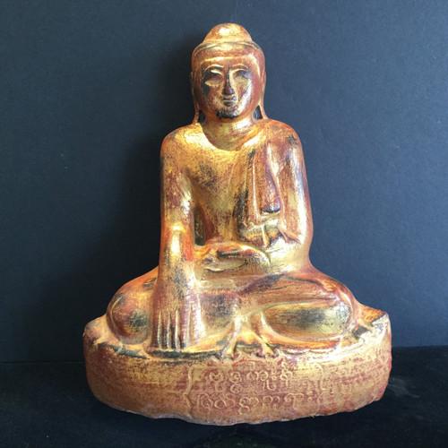 Burmese Stone (Saturday) Buddha Alabaster Circa 19 th Century
