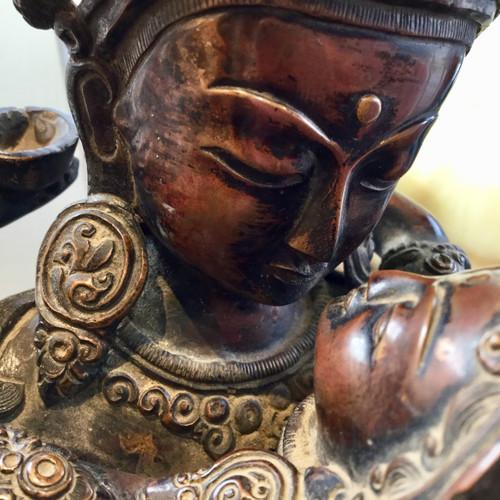 BUDDHA STATUE SAMANTABHADRA SHAKTI YAB YUM TIBETAN BUDDHIST TIBET NEPAL