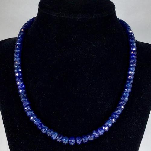 Blue Sapphire Necklace 52 grams, 260 ct