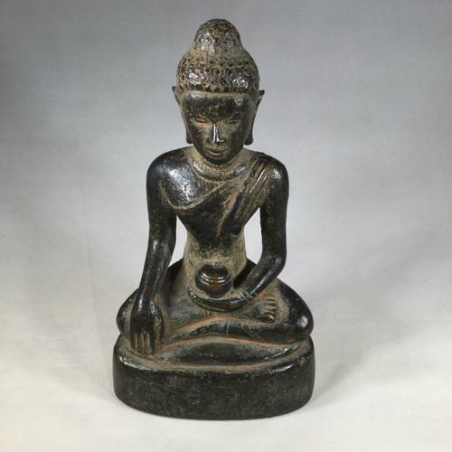Burmese Bronze Buddha, Mon Period 15th Century Burma Myanmar