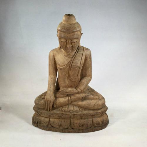 Masterfully Carved in Burma, A Solid Teak Buddha#1