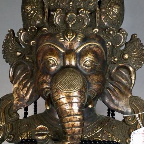 Bronze Ganesh West Nepal Circa early 1900.s