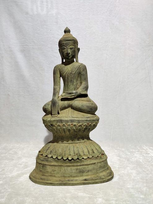 Bronze Buddha Statue Casted in  Ava Period (1618-1789)